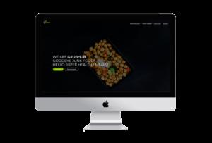 iMac mockup of GrubHub website