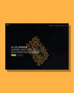 Thumbnail image that displays GrubHub website